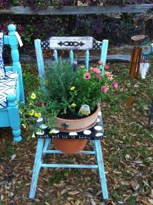 Auction item - chair planter