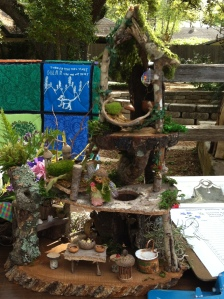 Auction item - Fairy House and Shady Oak quilt (in background)