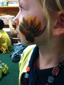 Turkey face painting