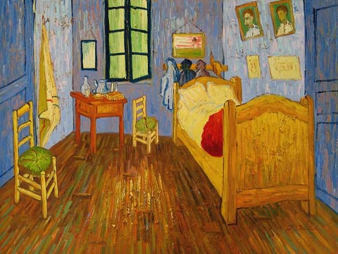 van gogh s bedroom in 3d acorns to oaks art at shady oak